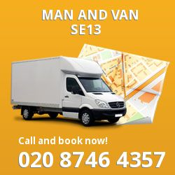 SE13 man and van in Lewisham